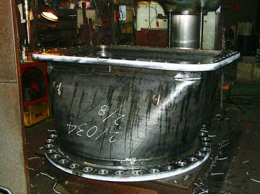 発電機タービン用排気管